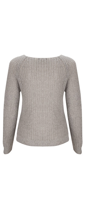 Sandwich Clothing Mohair Pullover  Melted Snow