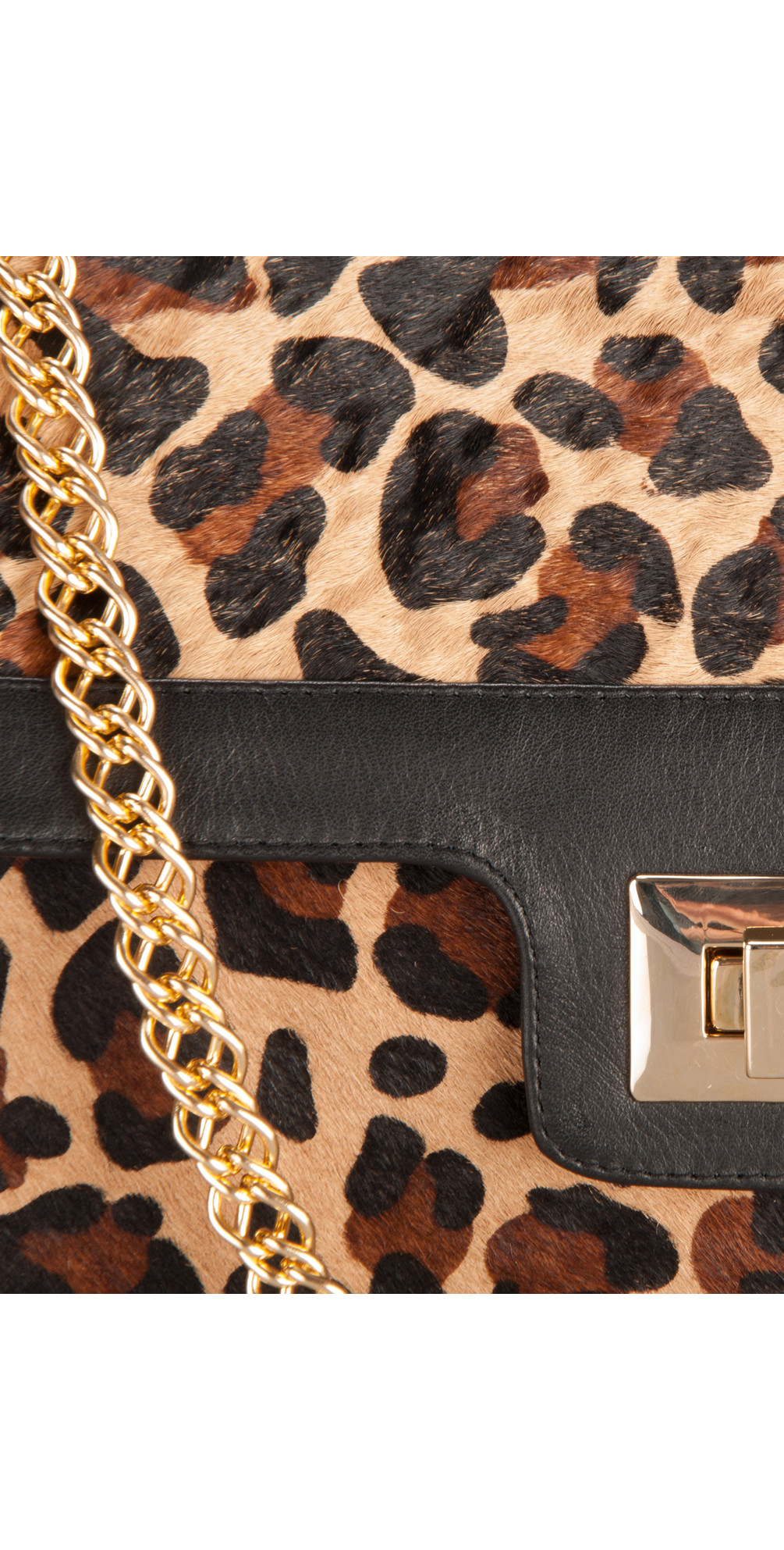 Leopard Print Leather Bag main image