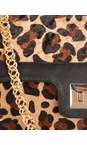 Sachelle Black Leopard Print Leather Bag