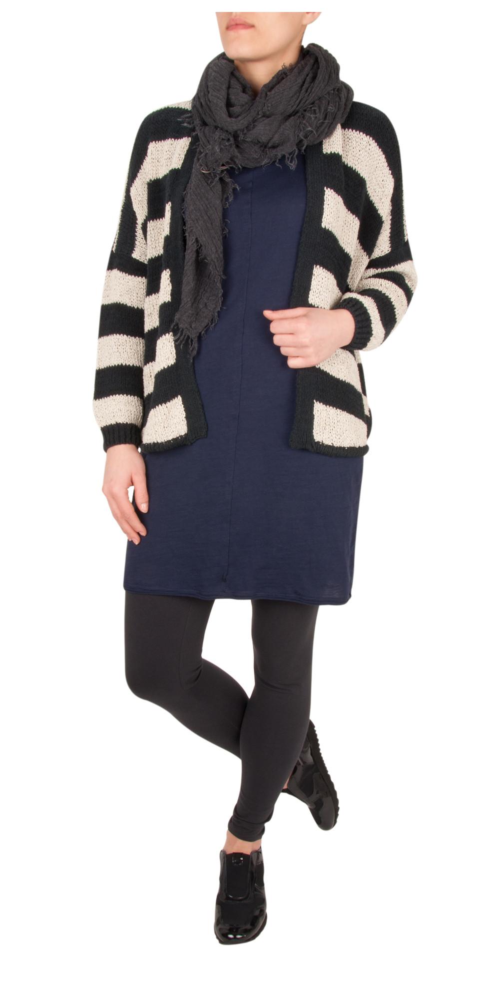 Cotton Chenille Striped Cardigan main image