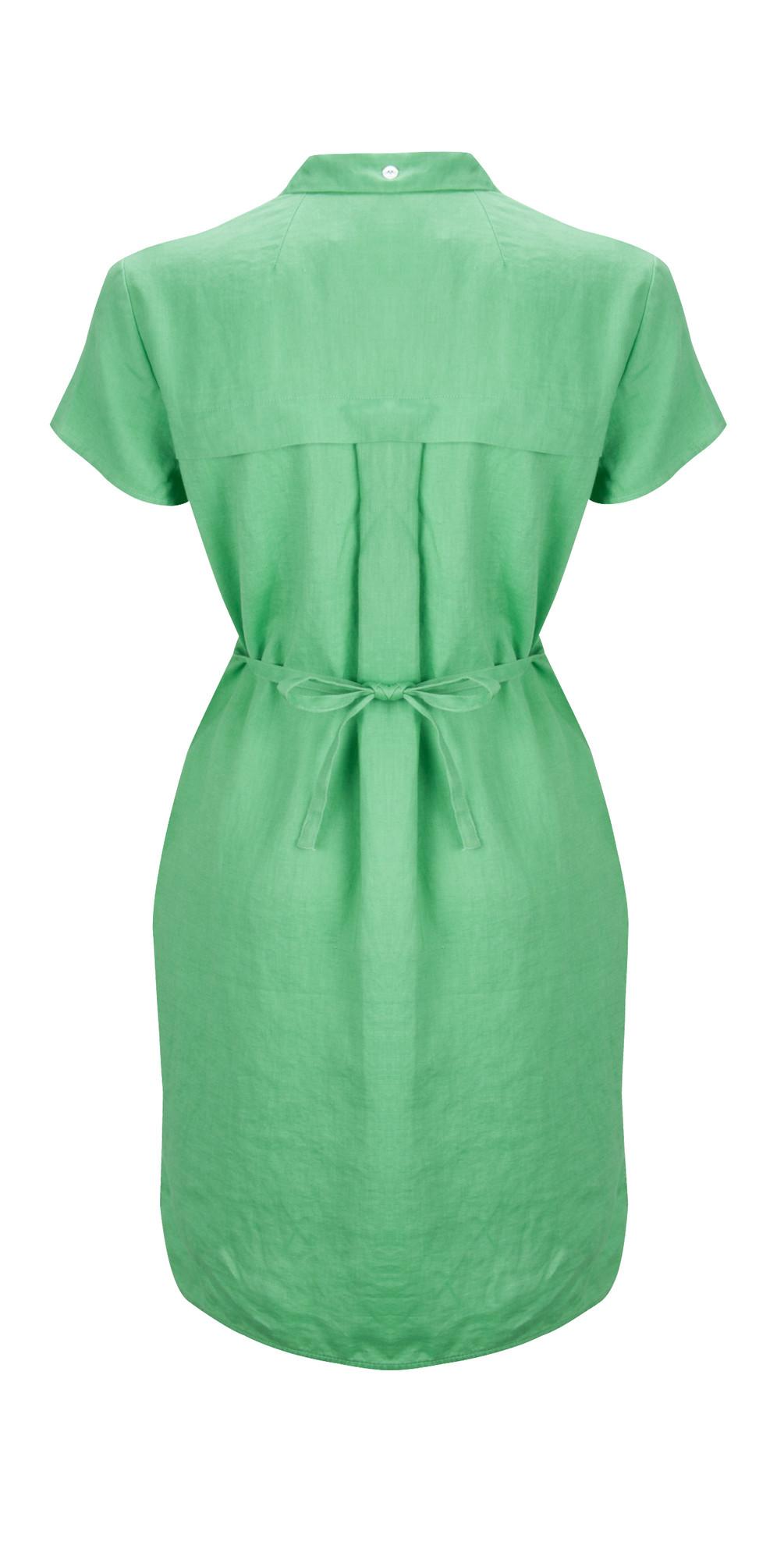 Great plains norfolk linen shirt dress in apple green for Apple green dress shirt