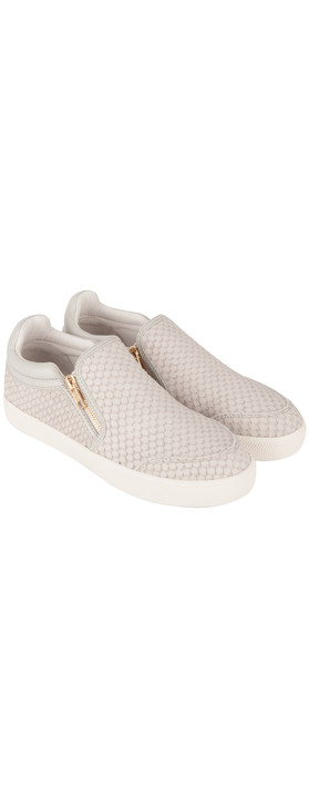 Ash Intense Nappa Wax Slip On Trainer Marble