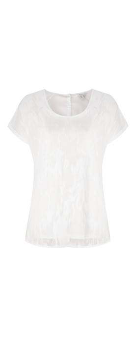 Sandwich Clothing Burnout Jersey Top Off-White