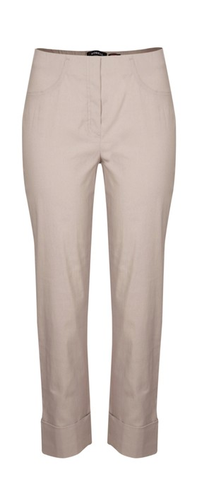 Robell Trousers Bella 7/8 Cropped Trouser  Taupe