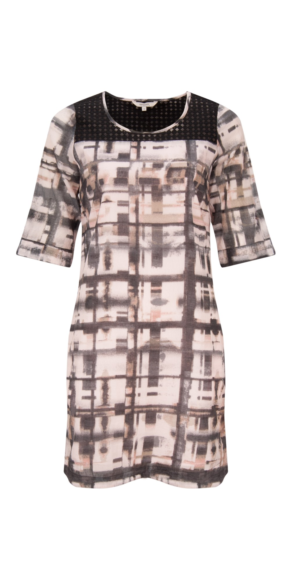 Distorted Check Print Dress main image