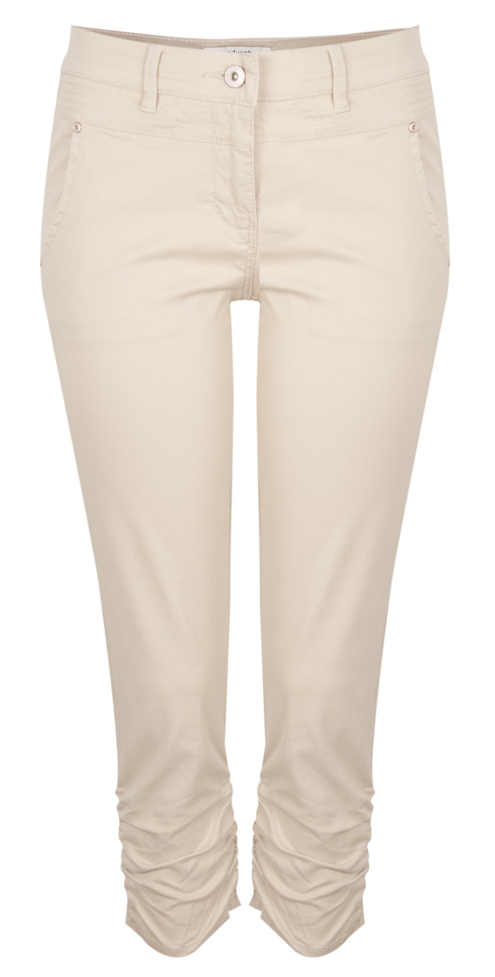 Ruched Skinny Stretch Pants main image