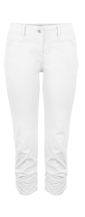 Sandwich Clothing Ruched Skinny Stretch Pants Optical White