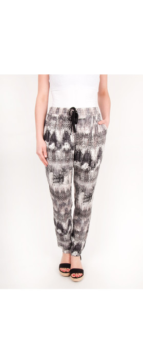 Sandwich Clothing Sienna Mixed Ikat Pants Sandstone