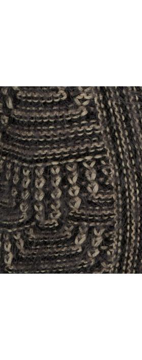 Sandwich Clothing Furry Knit Cardigan Dark Storm