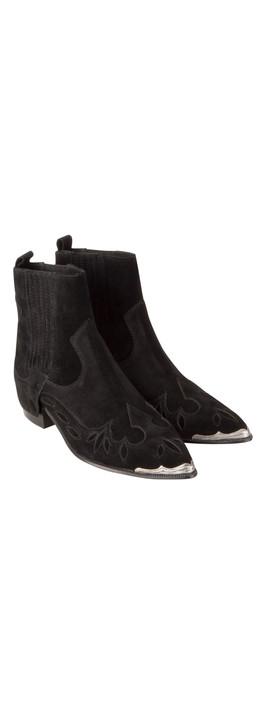 Ash LIV Western Ankle Boot Black