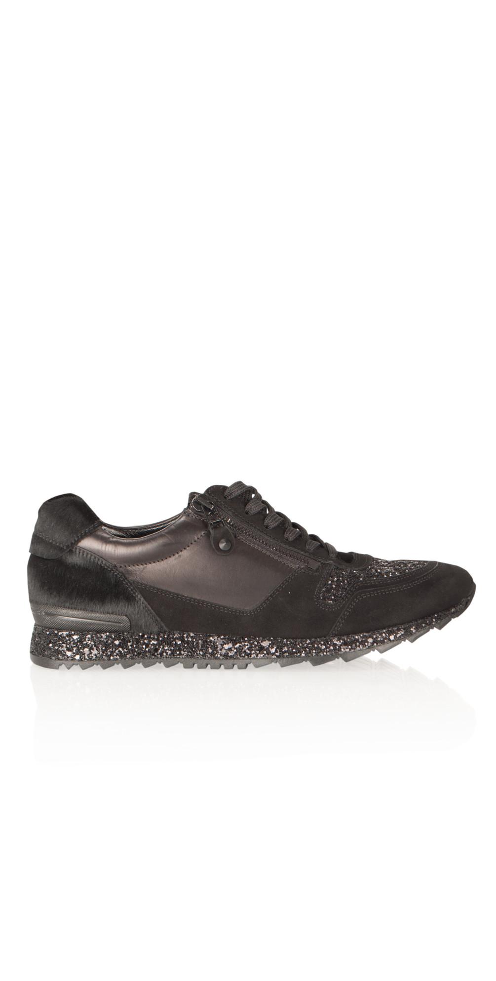 kennel und schmenger runner glitter trainer in schwarz. Black Bedroom Furniture Sets. Home Design Ideas