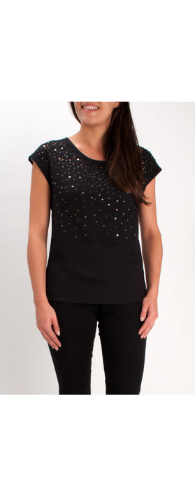 Sandwich Clothing Sequinned Top Black