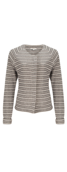 Sandwich Clothing French Terry Stripe Jacket Charcoal