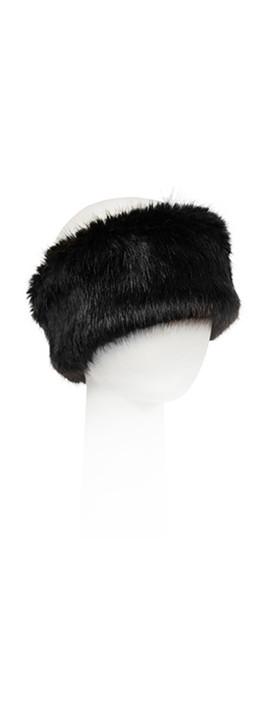 Pia Rossini Monroe Faux Fur Headband Black