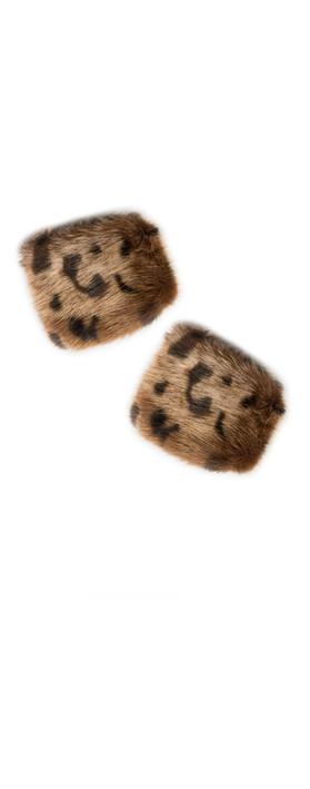 Pia Rossini Monroe Faux Fur Cuff Ocelot