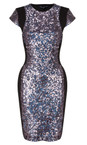French Connection Charcoal Lunar Sparkle Dress