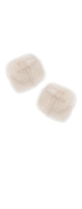 Pia Rossini Monroe Faux Fur Cuff Almond