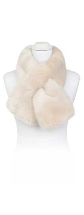 Pia Rossini Monroe Faux Fur Tippet Scarf Almond