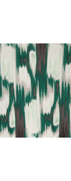 Sandwich Clothing Ikat Print Dress Antique Green
