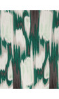Sandwich Clothing Antique Green Ikat Print Dress