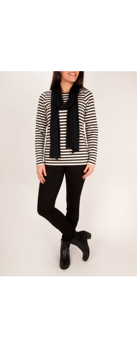 Sandwich Clothing Striped Milano Top Washed Chalk