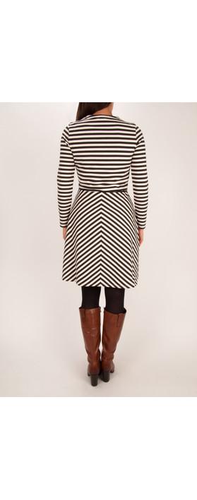 Sandwich Clothing Striped Milano Dress Washed Chalk