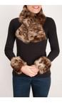 Pia Rossini Ocelot Monroe Faux Fur Cuff