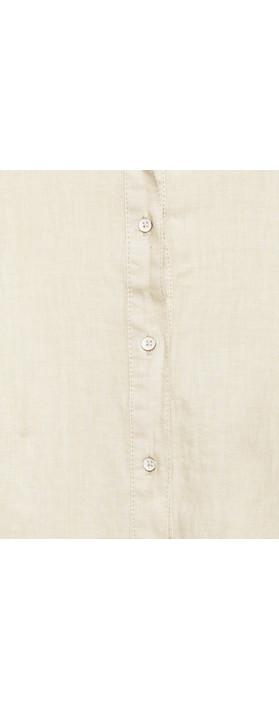 Sandwich Clothing Linen Shirt Dress Silver Sand