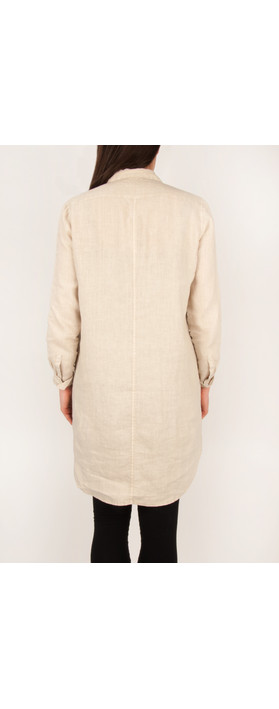 Sandwich Clothing Linen Shirt Dress Silver Sand
