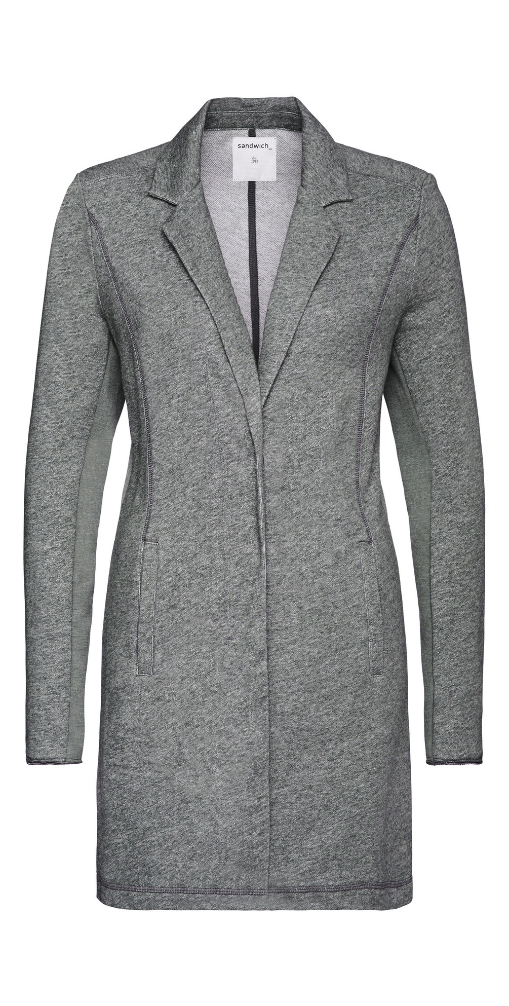 French Terry Long Panelled Blazer main image
