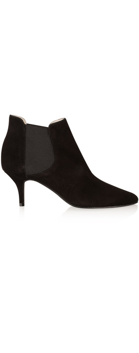 gemini by cefalu ilirio suede kitten heel ankle boot in black