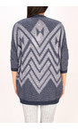 Sandwich Clothing Mood Indigo Tape Knitting Cardigan