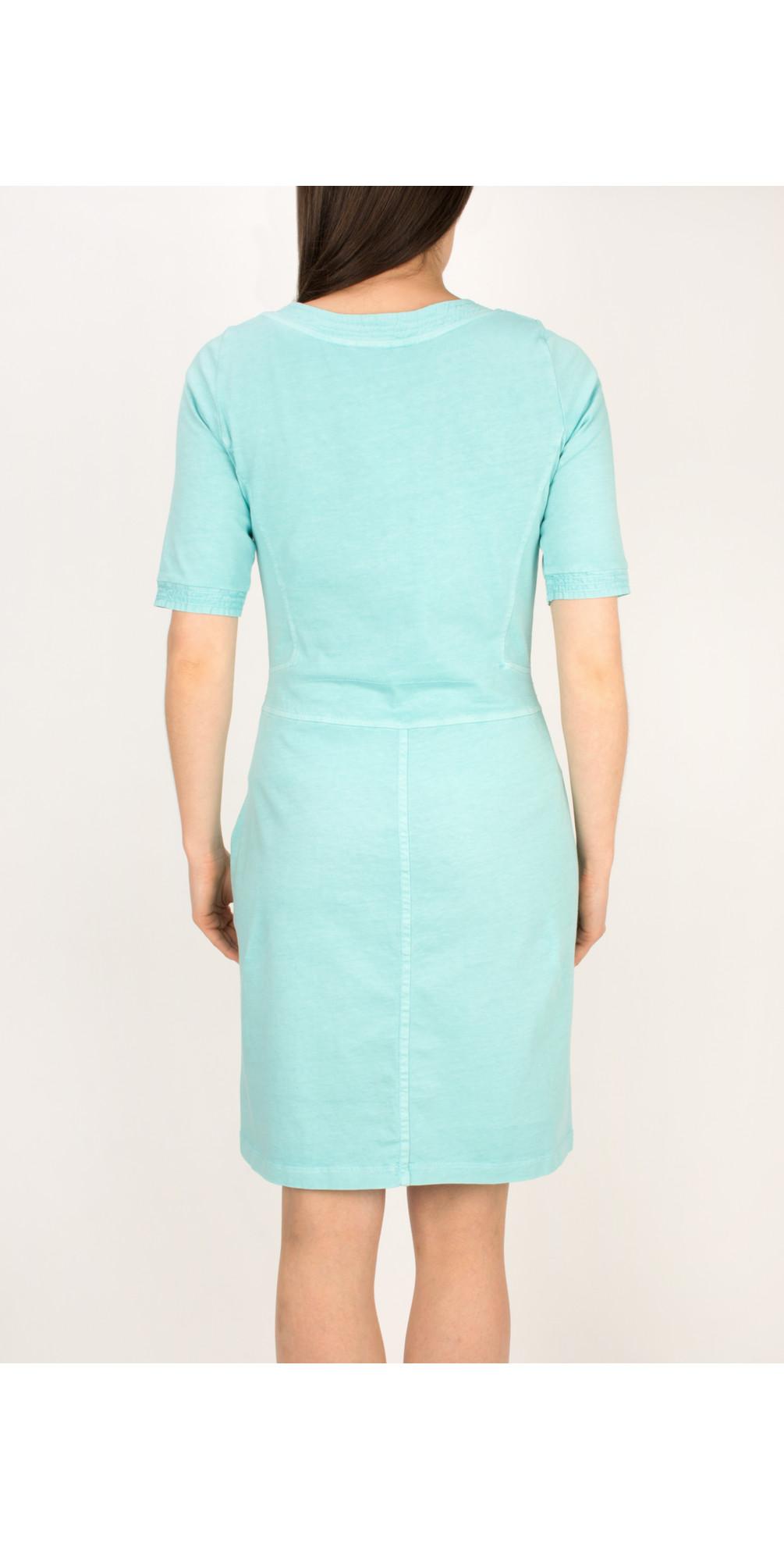 sandwich clothing single jersey dress in angel blue. Black Bedroom Furniture Sets. Home Design Ideas