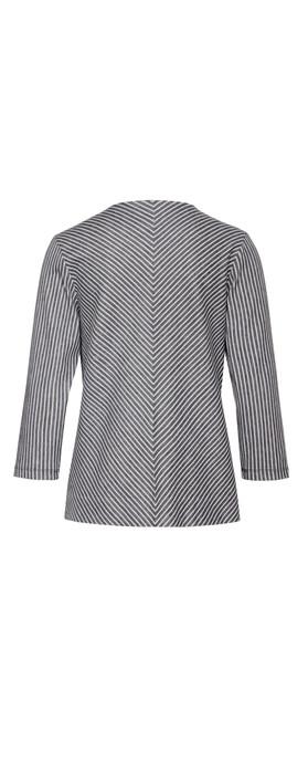 Sandwich Clothing Striped Jersey Jacket Mood Indigo