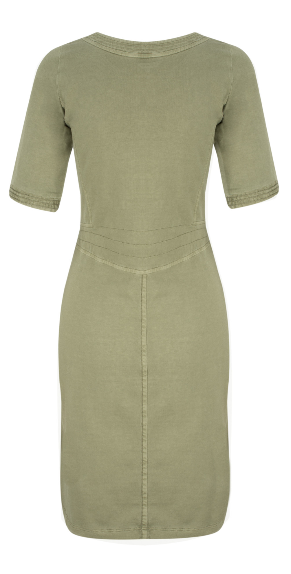 sandwich clothing single jersey dress in washed army. Black Bedroom Furniture Sets. Home Design Ideas