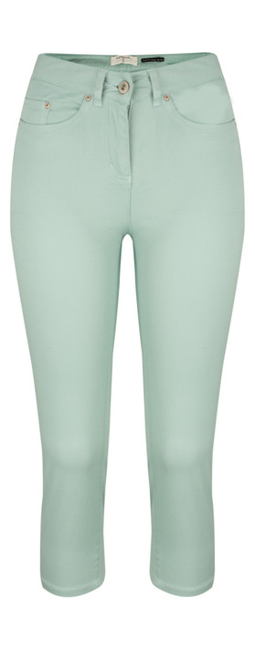 Sandwich Clothing Casual Crop Trouser Blue Haze