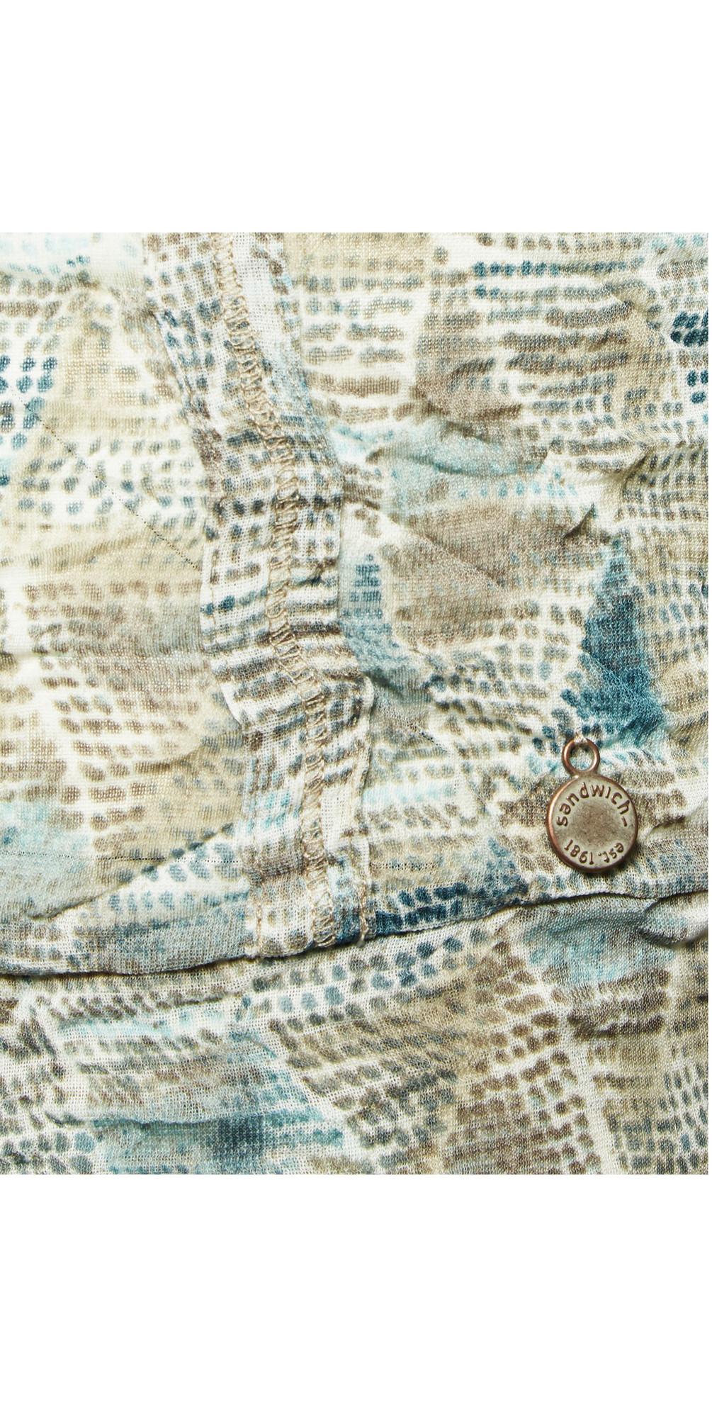 Tribal Printed Crinkle Stretch Cardigan main image