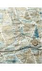 Sandwich Clothing Blue Haze Tribal Printed Crinkle Stretch Cardigan