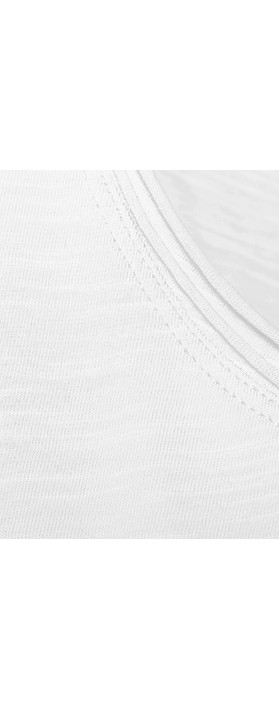 Sandwich Clothing Cotton Slub Jersey Vest Pure White