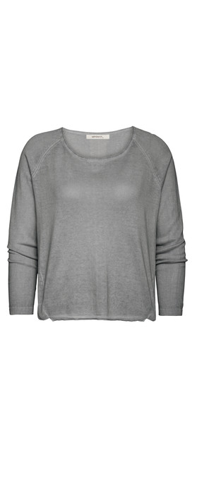 Sandwich Clothing Basic Cotton Pullover Blue Steel