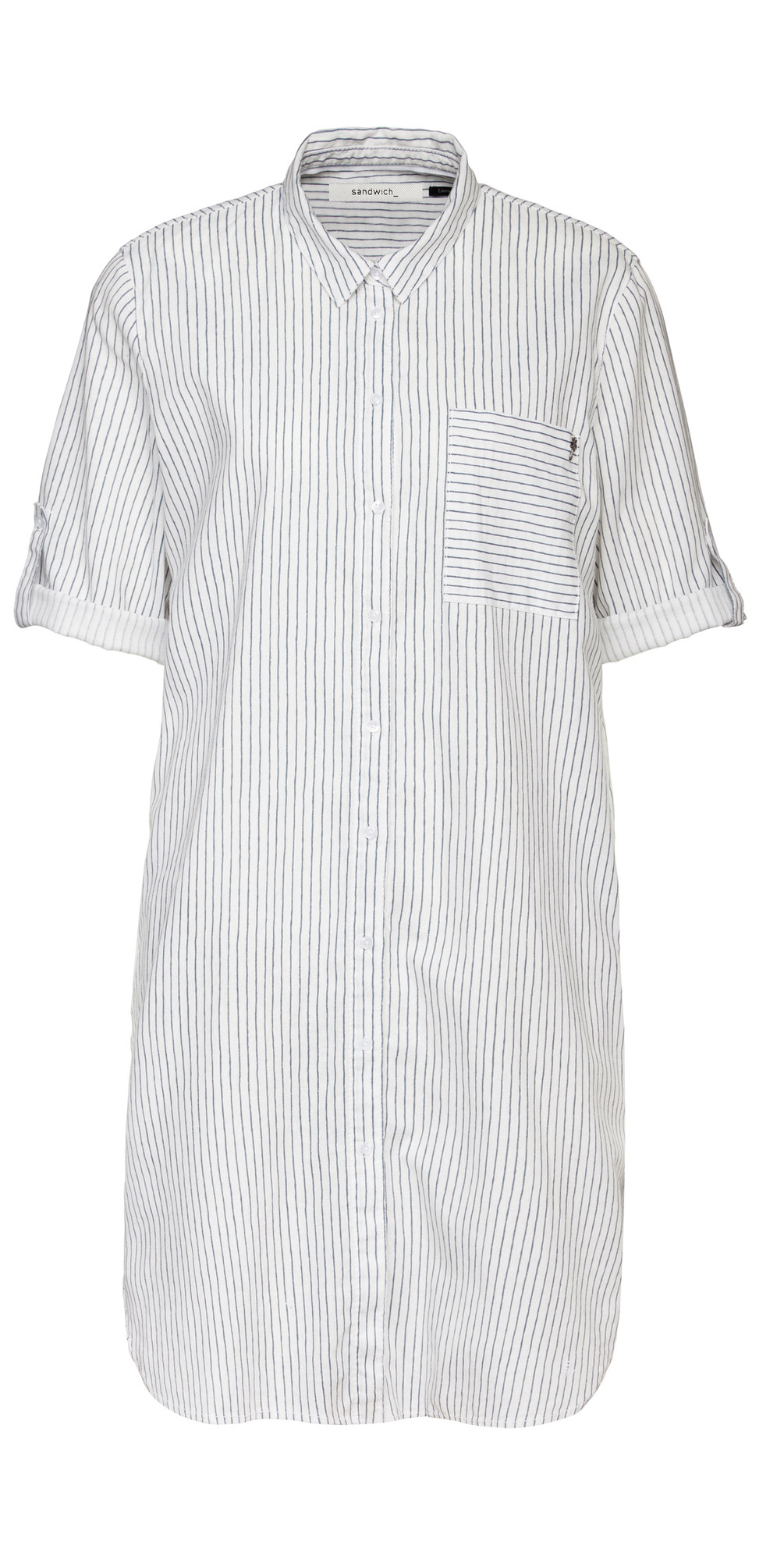 Pin-Stripe Linen Blend Shirt main image