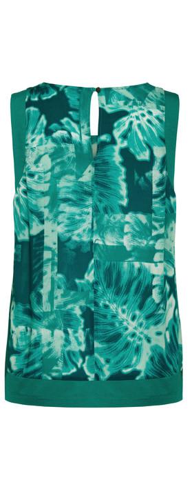 Sandwich Clothing Palm Print Top  Teal