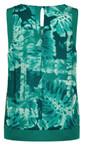 Sandwich Clothing Teal Palm Print Top