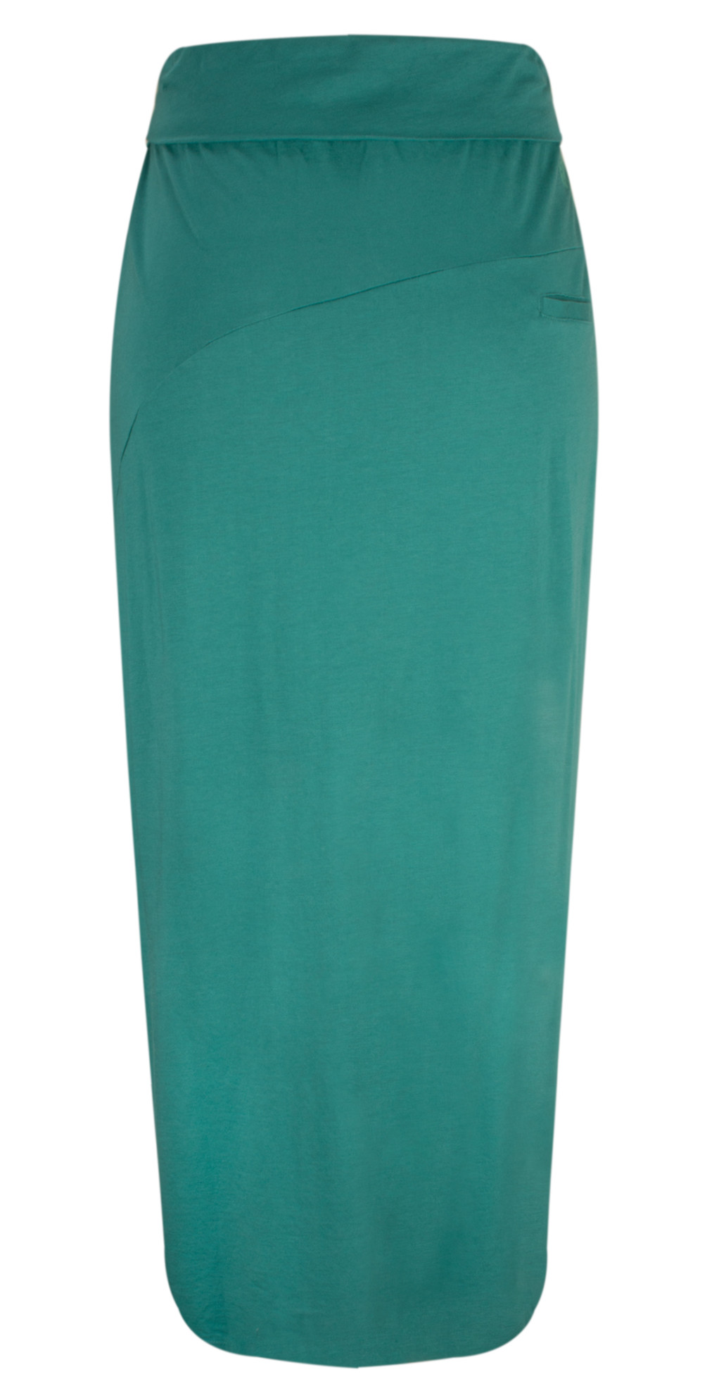 Long Jersey Wrap Effect Skirt main image