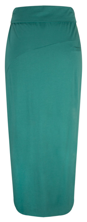 Sandwich Clothing Long Jersey Wrap Effect Skirt Teal