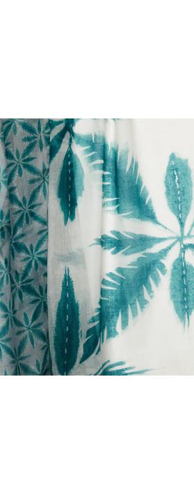 Sandwich Clothing Palm Print Scarf Teal