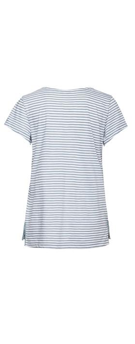 Sandwich Clothing T-Shirt Short Sleeves Blue Steel
