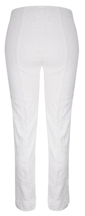 Robell Trousers Marie Jacquard Stretch Trouser White