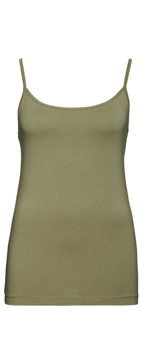 Sandwich Clothing Essential Strappy Vest Top  Washed Army