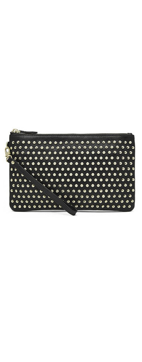 HButler Mighty Purse Embellished Wristlet Black